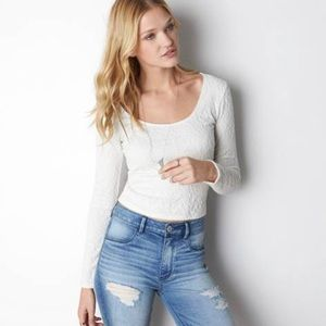 AEO Soft & Sexy Lace Ballet Long Sleeve Shirt